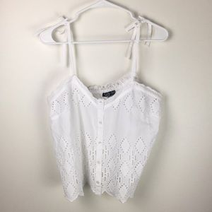 Topshop eyelet crop top!